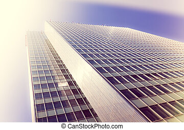 office buildings. modern glass silhouettes of skyscrapers  with