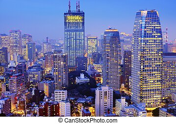 Office Buildings - Skyscrapers in Tokyo, Japan