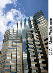 Office Buildings under blue skies