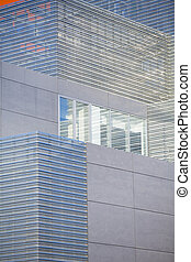 Office buildings with modern corporate architecture - business and success concept, blue sky, windows