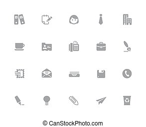 Office & Business Icons // 32px White Series