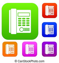 Office business keypad phone set collection