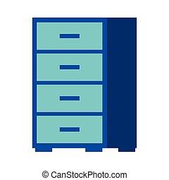 office cabinet furniture organizer icon