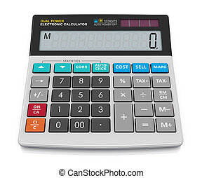 Office calculator - Modern office business financial ...