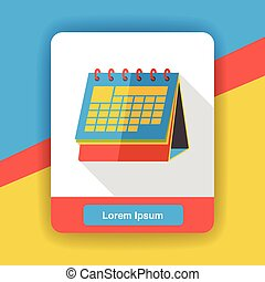 office calendar flat icon