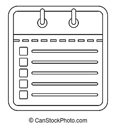 Office calendar icon, outline style.