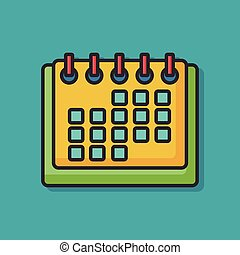 office calendar vector icon