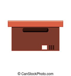 office carton box isolated icon