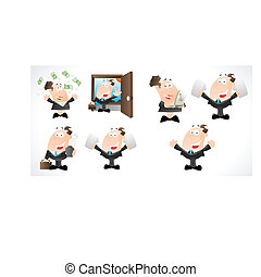 Office Cartoons Vectors
