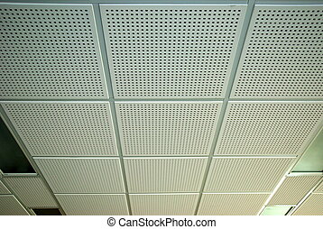 Kind of office ceiling with lamps