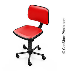 Office chair against white