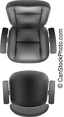 Office chair and boss armchair top view vector realistic,...