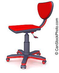 office chair - Plastic modern office chair on castors