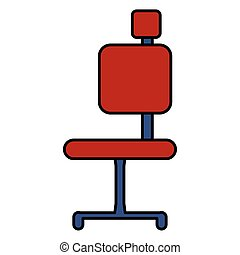 office chair furniture on white background