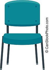 Office chair icon, flat style - Office chair icon. Flat...