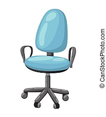 Office chair icon for interiors Flat design style vector illustration.