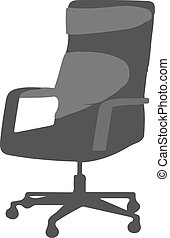 office chair icon isolated on white background