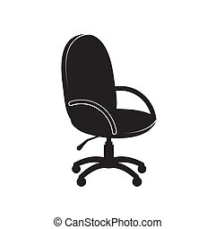 Office chair icon on a white isolated background. Vector image