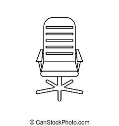 Office chair icon, outline style