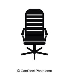 Office chair icon, simple style