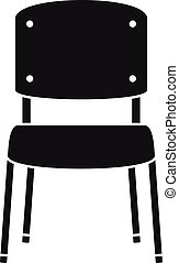 Office chair icon, simple style - Office chair icon. Simple...