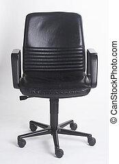 office chair II - Buerostuhl II - black leather bureauseat...