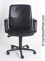 office chair II - Buerostuhl II - black leather bureauseat...