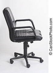 office chair III - Buerostuhl III - black leather bureauseat...