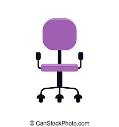 Office chair in flat style vector illustration