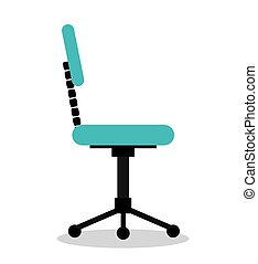 office chair isolated icon design