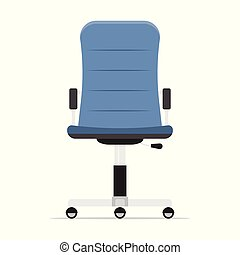 Office chair isolated on white background.