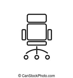 Office chair line icon on a white background