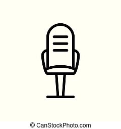 office chair outline icon. vector illustration. Isolated on white background.