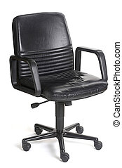 office chair isolated with shadow, clipping path included