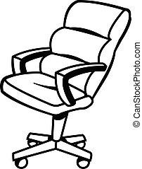 Office Chair Vector Illustration