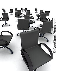 Office chairs - 3D rendered illustration.