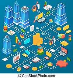 Office city infrastructure planning infographic -...
