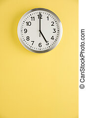 Office Clock Displaying 5 O'clock