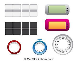 Office clock faces