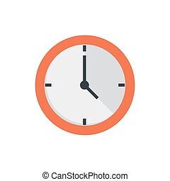 Office clock flat icon