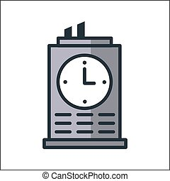 office clock icon color