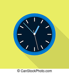 Office clock icon, flat style