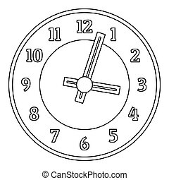 Office clock icon, outline style.