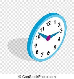 Office clock isometric icon