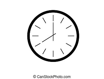 Office clock vector illustration eps 10 isolated on white...