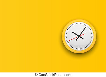 Office clock without numbers.