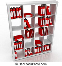 office closet, isolated on a white
