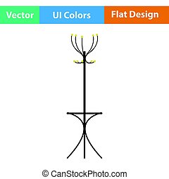 Office coat stand icon