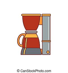 Office coffee machine icon, cartoon style
