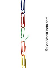 office colorful clip chain